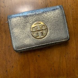 Tory Burch Dusted Gold Metallic Wallet